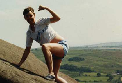 1987: Keele, Rock Climbing with Shad