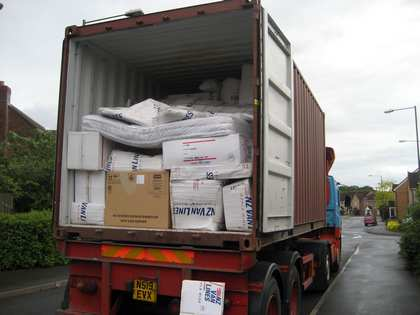 Fri, 11 May 2007: Back in England, Container Arrives