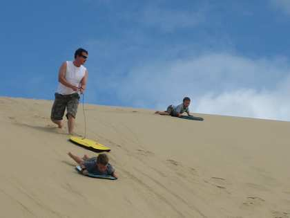 Sat, 27 Jan 2007: Far North, Driving up Ninety Mile Beach, Sand Dunes