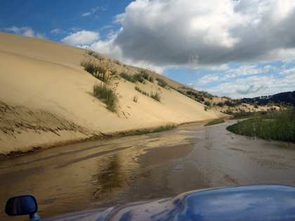 Sat, 27 Jan 2007: Far North, Driving up Ninety Mile Beach, Te Paki Stream