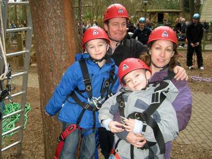 Sat, 23 Feb 2008: Center Parcs, Tree Adventures