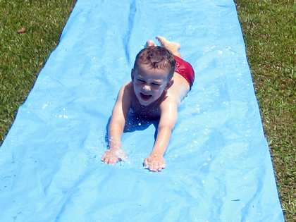 Sun, 14 Jan 2007: Home in New Zealand, Slippery Slide